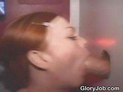 amateur blowjob redhead