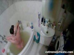 amateur bathroom brunette