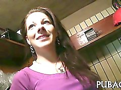 amateur babe brunette public