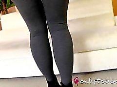 pantyhose feet tease striptiz onlytease