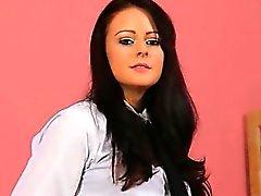 amateur brunette black nylon brunette