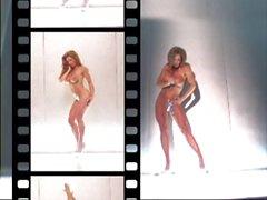 muscular women striptease