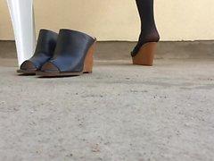 stockings foot fetish nylon high heels