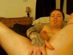 Cute Guy Jacking his Huge Dick