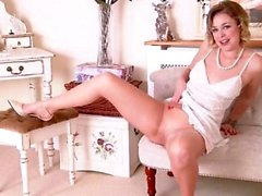 blonde european fingering mature