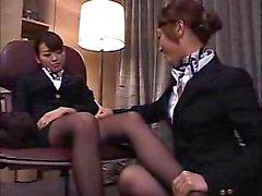 asiatisk hårig japansk lesbisk