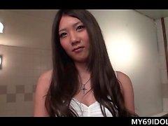 asiático japonés bragas solo adolescente