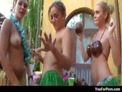 Sexy teen girlfriends hardcore XXX party sex 36