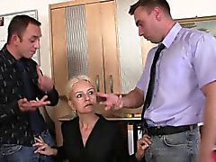blonde blowjob czech european milf