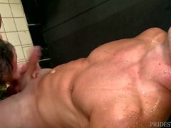 MenOver30 After Workout Shower goes Anal