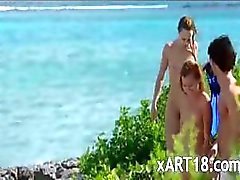 babe beach group sex outdoor threesome