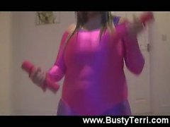 busty teenager workout huge