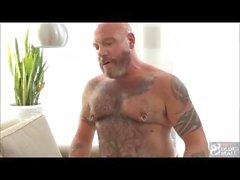 scott reynolds bareback bear daddy daddies mature silver fox kissing brunette muscle tattoo jock nipple play gay