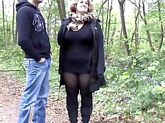 BBW 40y gets fucked outdoor