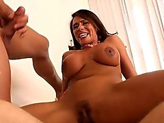 big boobs blowjob brunette double penetration facial