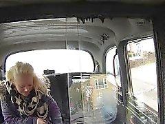 Blonde bbw bangs in taxi in woods