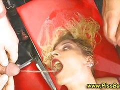 blonde blowjob caucasian gangbang oral sex