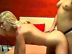 amateur blonde lesbian small tits strapon
