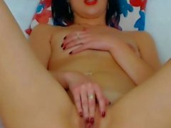 solo girl vaginal sex masturbation brunette shaved