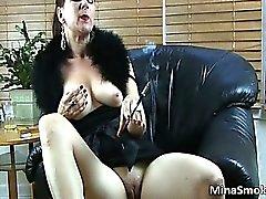 big tits boobs brunette milf redhead
