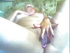 Mature blonde in webcam