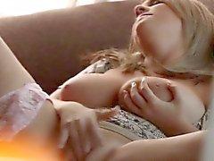 babe big boobs blonde masturbation