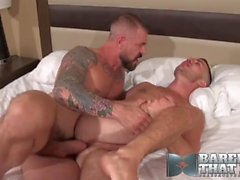 rocco steele hunk big cock tattooed blowjob cock sucking bearded rimming ass