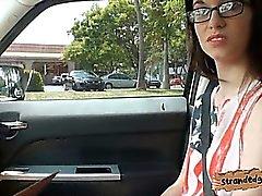 amateur blowjob brunette hardcore outdoor