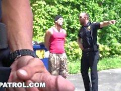 gaypatrol latin latino единообразный геи патруль полицейских полиций косплей офицер гей-гей секс геи анальный грустный смешной плохой мальчиков грабитель