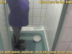 nipples showers big boobs nylon