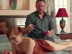 redhead big tits blowjob hairy piercings