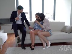 The Playboy - Anal Threesome - GIRLSRIMMING