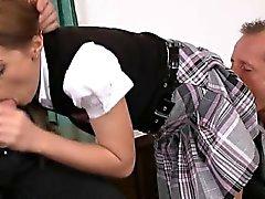 brunette double penetration gangbang teen