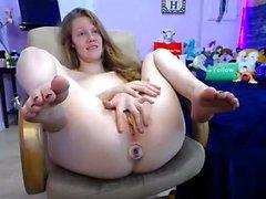 anal brunette masturbation small tits