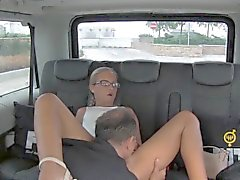 FuckedInTraffic - Czech blondie rides hard cock in the car