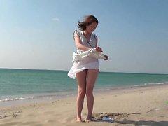amateur beach brunette hairy hd