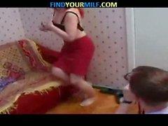 teen young blowjob redhead milf