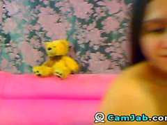 amateur brunette masturbation solo webcam