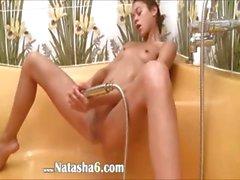 european babe Natasha in the hot shower