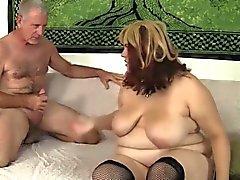 bbw blonde blowjob fat