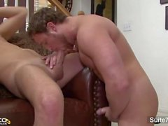 Sexual brunette married male Nash Lawler gets cock sucked and ass nailed