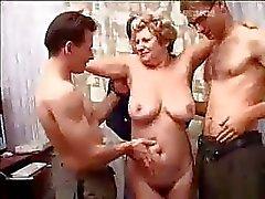 foursome mature moms and boys