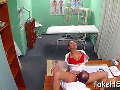 Fake doctor gets her snatch hammered inside fake hospital