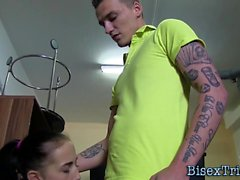 bisexual blowjob brunette hd teen