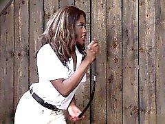 black and ebony blowjob femdom handjob interracial