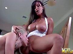 lesbian milf pussy licking big-boobs big-tits
