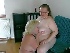 old girl-on-girl granny young mature