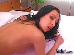 anal brünett dildo