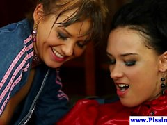brunette fingering hd lesbian threesome