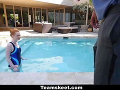 CFNMTeens - Horny Ginger Fucked By Swimming Coach